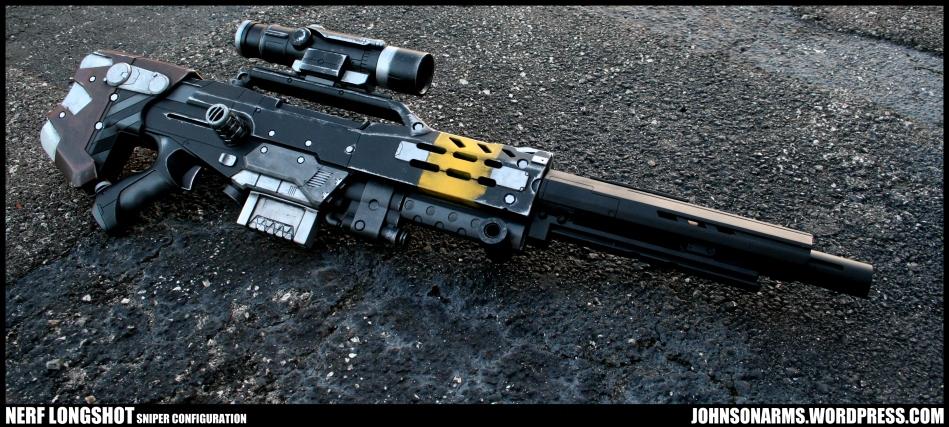Nerf Longshot w/ alternate barrel